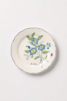 Amicable Aster Dessert Plate - anthropologie.com