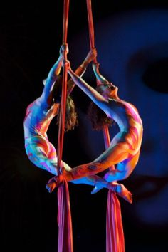 Aerial silk duo