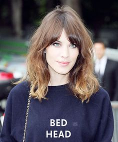 Channel the bed head look a la Alexa Chung with your medium length hair