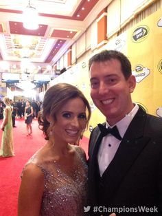 Samantha & Kyle Busch on the red carpet at the 2014 NASCAR Awards Banquet