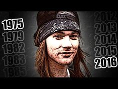 AXL ROSE's facial change! (1975-2016). With Guns N' Roses best songs / mejores canciones - YouTube