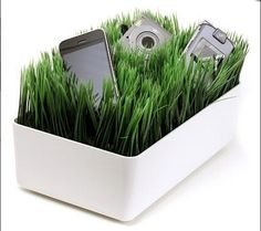 Who doesn't want to toss there phone in their plants when they get home, awesome!
