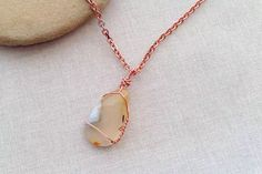 Learn how to make a wire wrapped pendant from a favorite stone, piece of beach glass, shell or any other item that doesn't have a hole to hang from. Wire Wrapped Pendant, Wire Wrapped Jewelry, Wire Jewelry, Pendant Jewelry, Bridal Jewelry, Pendant Necklace, Jewelry Crafts, Jewelry Tools, Jewelry Ideas