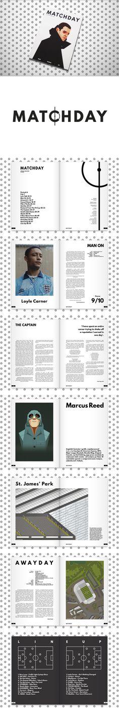 Matchday Magazine design https://www.behance.net/gallery/48378213/Matchday-Magazine-122016