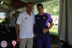 Dimitris Aggelonias with Mario Gomez