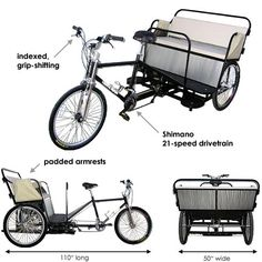 Main Street Pedicabs™ | The Boardwalk Pedicab™ (Schematic Features)