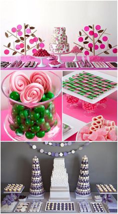 Here are some ideas of how to coordinate your candy buffet for the next big party!