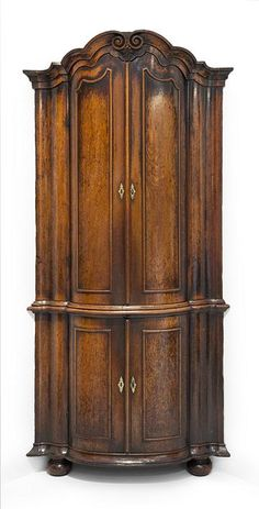 A Dutch corner cabinet, 18th century