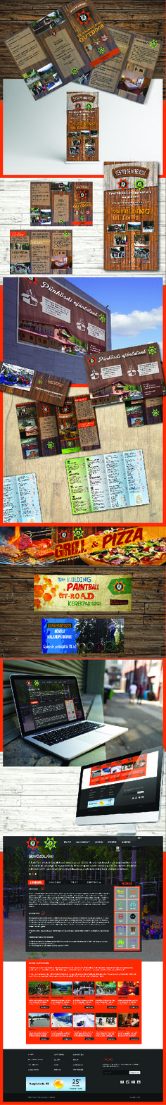 Flyer - Banner - Menu - Rollup - Mockup design for Balu Park - Romania #1 Adventure Park