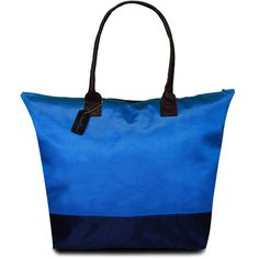 Peach Couture Kylie Blue Two-tone Plage a Main Waterproof Handbag ($20) ❤ liked on Polyvore featuring bags, handbags, tote bags, blue, tote handbags, blue purse, purse tote, zippered tote bag and waterproof beach tote