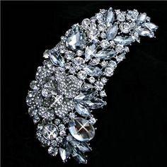 Crystal Brooch.  Fabulous Large Bridal Brooch by TamarAndTalya