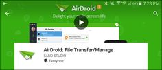 How to control your android device from your computer using airdroid