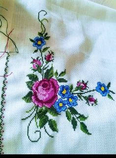 Cross Stitch Rose, Cross Stitch Animals, Cross Stitch Flowers, Cross Stitch Patterns, Hand Embroidery Designs, Embroidery Applique, Chrochet, Needlepoint, Needlework