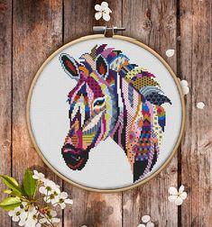 Mandala Zebra Cross Stitch Pattern for Instant Download 273