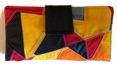 Women Wallet Clutch Recycled Paraglider Geometric by OffChutes