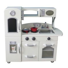 The Teamson White Country Living Childrenu0027s Toy Kitchen, Is One Of The Best  Wooden Pretend Role Play Educational Toys Around