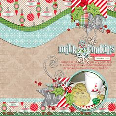 WE WISH YOU A MERRY CHRISTMAS for 2013! scrapbook sketch layout