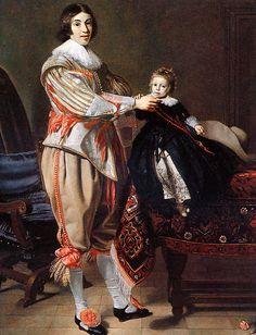 Thomas de Keyser, Portrait of a gentleman and his son (Dirck van der Wissel and his son, Jacob?)
