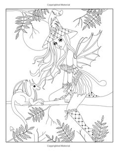 Spellbinding Images: A Fantasy Coloring Book (Volume Nikki Burnette… Witch Coloring Pages, Blank Coloring Pages, Free Adult Coloring Pages, Cool Coloring Pages, Coloring Books, Coloring Sheets, Halloween, Colorful Pictures, Sketches