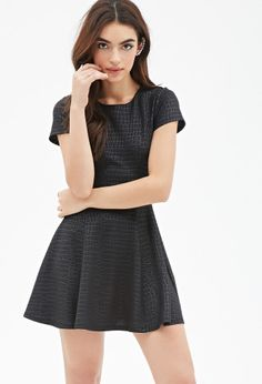 Tonal Crocodile-Patterned Dress
