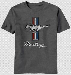 NEW Ford Mustang Horse American Flag Muscle Car Vintage Faded Logo T-shirt top in Clothing, Shoes & Accessories | eBay