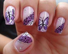 43 Cheetah Nail art