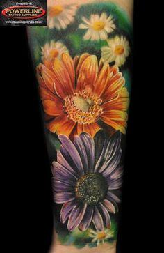 realism daisy tattoo | leg tattoos tattoo of the day 12 17 14 daisy