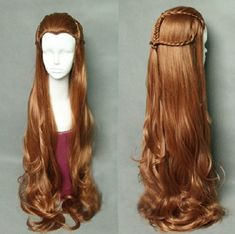 The Hobbit / The Lord of the Rings Elf Tauriel Cosplay Wig Golden Brown Hair Kewlcos http://www.amazon.com/dp/B00KT3NSIE/ref=cm_sw_r_pi_dp_kMMLtb1FJP1K2A3E