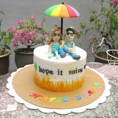 Mom & Daughter Cakes: Umbrella Cake - Hope It Rains Tonight!