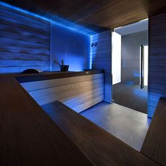 Saunas are now a favorite place for some people to relieve fatigue and fatigue after busy days. So, the weekend choice for them is a sauna to help them relax rather than just being and resting at home. Spa Design, Design Sauna, Deco Design, Design Ideas, Sauna Steam Room, Sauna Room, Spa Interior, Interior Exterior, Dream Home Design