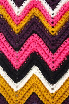 Zig Zag #Crochet #Tutorial #Scarf