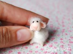 Tiny Sweet Sheep by LugartPetit on Etsy,
