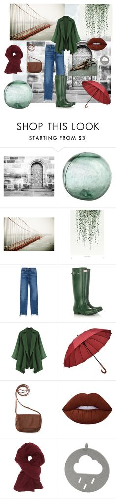 """""""It's a rainy day..."""" by mariannemerceria ❤ liked on Polyvore featuring 3x1, Hunter, Aéropostale, Lime Crime, Charlotte Russe, StreetStyle, streetfashion, artisan and MarianneMerceria"""