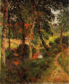 Pere Jean's Path, 1885 by Paul Gauguin, Early works. Impressionism. landscape. Museum of Mohamed Mahmoud Khalil and his wife, Cairo, Egypt