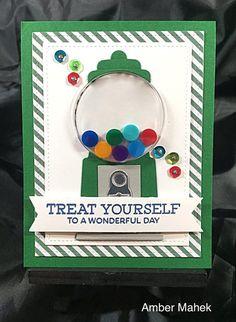 Gumball Greetings Card Kit - Amber Mahek #mftstamps