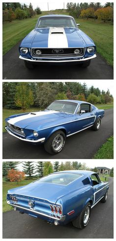 Jaw-dropping 1968 Ford Mustang GT | Yowza. I'm not really into cars but yeesh, I could be. (Admittedly, I will always have a soft-spot for those Land Yachts for absolutely no reason except daaaannnngggg.)