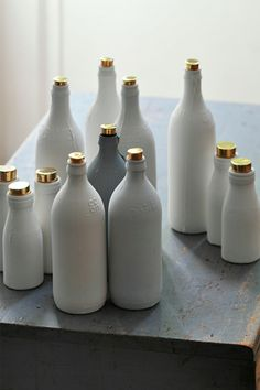 Porcelain bottles with gold tops | AnOther Loves