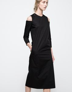 Kasha Cut Out Shoulder Dress