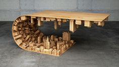 Stelios Mousarris's Wave City coffee table looks like a setting from the movie Inception