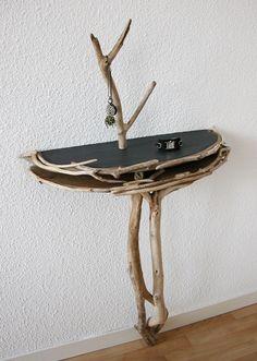 Console monopode en bois flotté