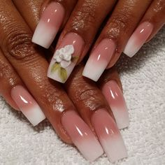 Tammy Taylor acrylic nails. dark pink cover it up powder and white as white powder were used. 3d flower