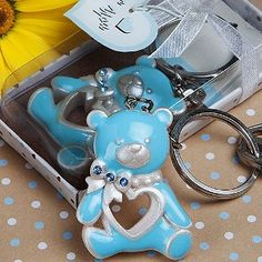 Blue Teddy Bear Key
