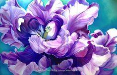 bright Awakening, 80x120, Pastel by Anita Nowinska