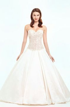 Bridal Gowns: Danielle Caprese Princess/Ball Gown Wedding Dress with Sweetheart Neckline and Dropped Waist Waistline