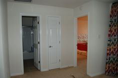 before guest room: linen closet