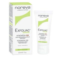 Noreva Exfoliac Acnomega 200 Soin Kératorégulateur 30ml - Pharmacie Lafayette - Acné & peaux grasses