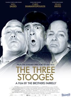 """""""The Three Stooges"""" a popular TV series in the 1960s is made into a movie in 2012"""