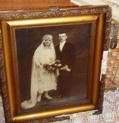 Bilder - Vintage.Sehr shabby Bild. Hochzeitsbild. - ein Designerstück von Vintage--Kiosk bei DaWanda