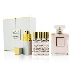 bc6a7af3aedd9 Coco Mademoiselle Coffret  Eau De Parfum Spray 50ml 1.7oz + Purse Spray  with 3 Refills 4x7.5ml 5pcs