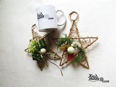 My florist work - New Year wattled from willow stars with decorations #knitmade #knitmadeflowers #knitmadenews #wreath #newyear #christmas